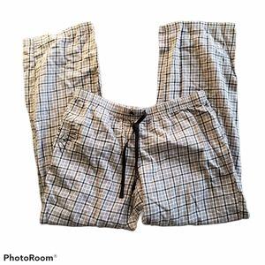 Life Is Good Plaid Cotton Sleep Pants Pull On Med